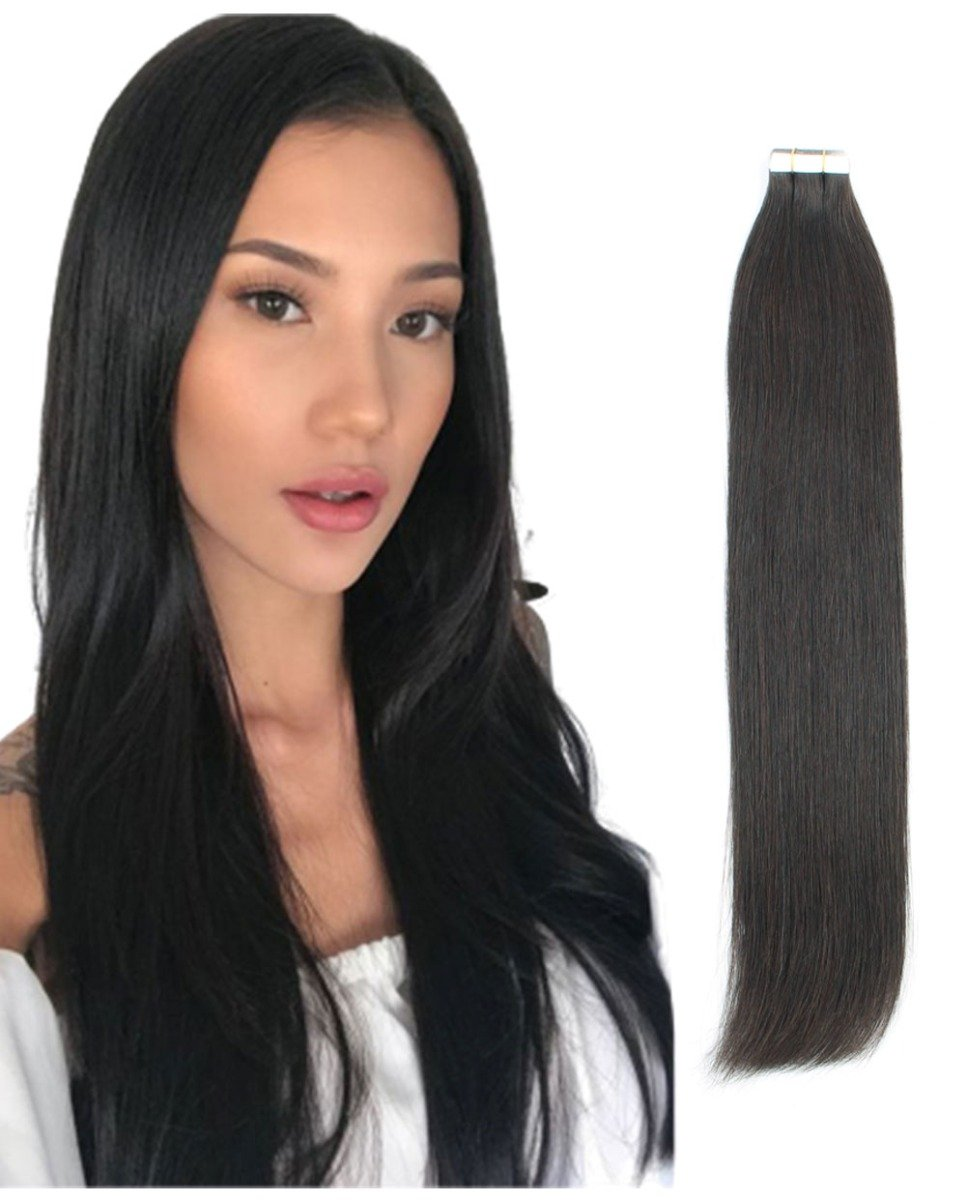 1b Tape In Hair Extensions 50 Grams 20 Piecesset
