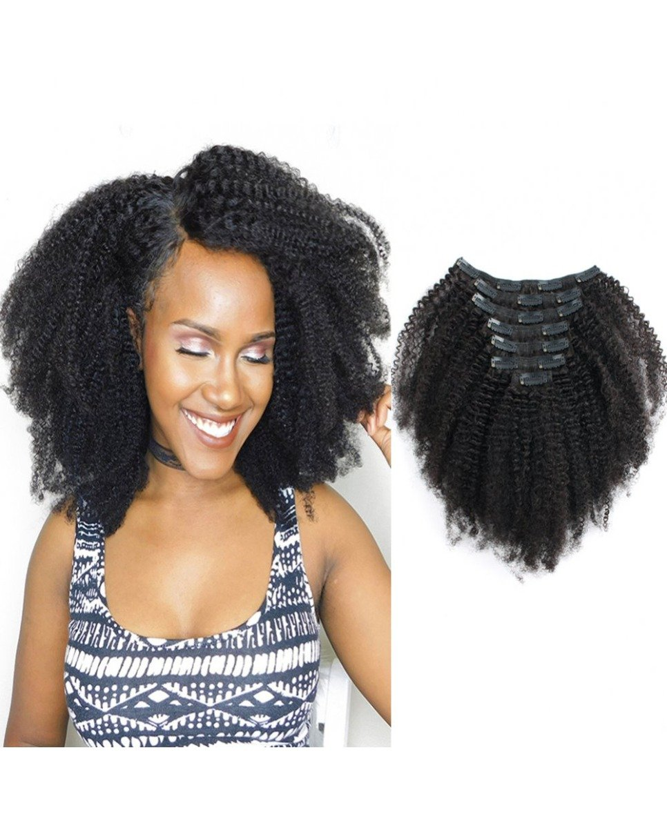 3c 4a Afro Curly Clip In Hair Extensions
