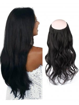Halo Hair Extensions #1 Jet Black 100g-120g