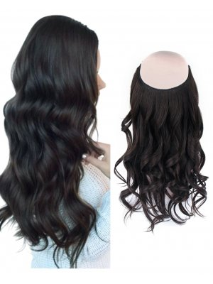 Halo Hair Extensions #1B Off Black 100g-120g