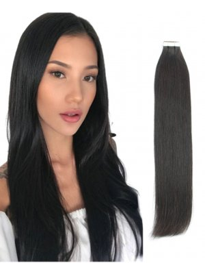 Tape In Hair Extensions 1B# Off Black