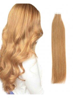 Tape In Hair Extensions Honey Blonde 27#