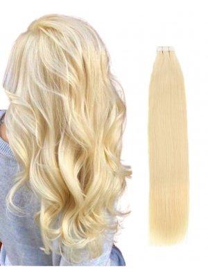 Tape In Hair Extensions #613 Bleach Blonde