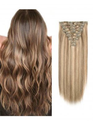 220g Clip In Extensions Highlights 6/12#