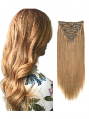 220g Clip In Extensions #27 Honey Blonde
