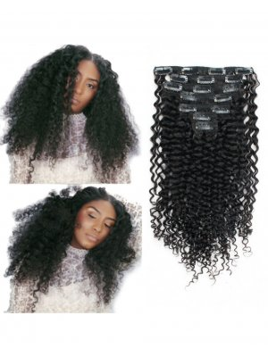 Jerry Curly Clip In Hair Extensions