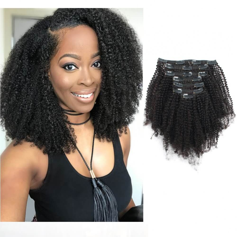 4ac Afro Coily Clip In Hair Extensions